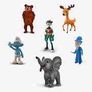 漫画の装備のキャラクターコレクション3 3d model