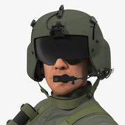 US Helicopter Pilot Rigged for Cinema 4D 3d model