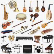 Collection d'instruments de musique 6 3d model