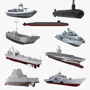US Warships Collection 4 3d model
