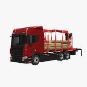 Camion forestier générique 3d model