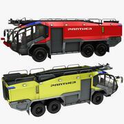 Flygplats Firetruck röd och gul 3d model