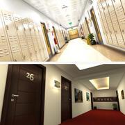 Schul- und Hotelkorridor 3d model