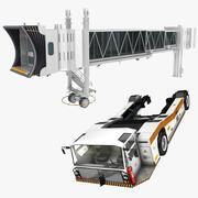 Jetway y tractor de remolque modelo 3d
