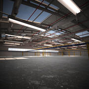 Large Warehouse - Production Hall 3d model