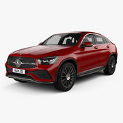 Mercedes-Benz GLC-klass AMG-Line kupé 2019 3d model