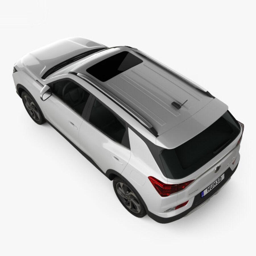 双龙Korando 2020 royalty-free 3d model - Preview no. 9