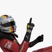 Sebastian Vettel 2019 년 3d model