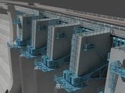 Dam Sluispoort 3d model