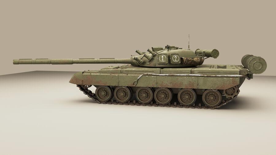탱크 T-80 royalty-free 3d model - Preview no. 3
