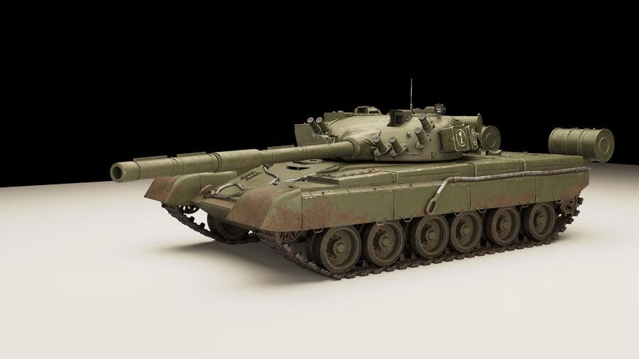 탱크 T-80 royalty-free 3d model - Preview no. 2