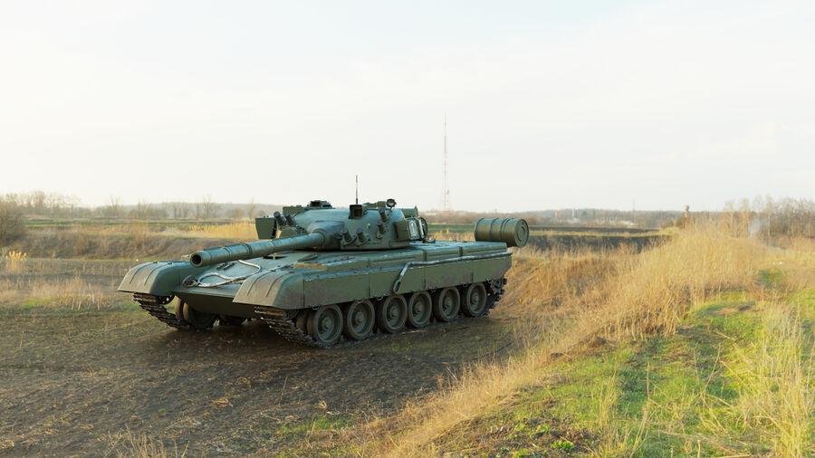 탱크 T-80 royalty-free 3d model - Preview no. 1