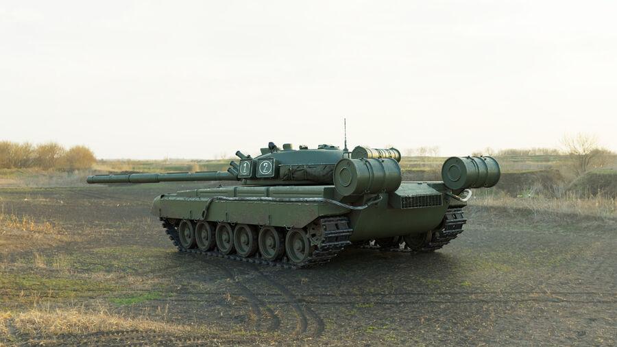 탱크 T-80 royalty-free 3d model - Preview no. 4