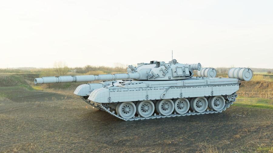 탱크 T-80 royalty-free 3d model - Preview no. 5