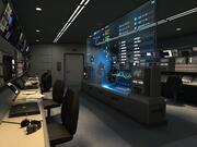 Cabine de comando de aeronaves de alerta precoce 3d model