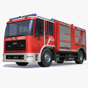Camion de pompier italien (1) 3d model