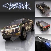 Tesla Cyber truck military 3d model