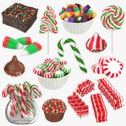 Kolekcja świątecznych cukierków 3d model
