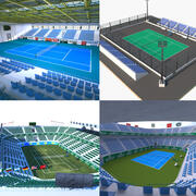 Tennis Court Collection 2 3d model