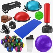 Fitness-Sammlung 3d model