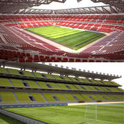 Kolekcja stadionów piłkarskich 3d model