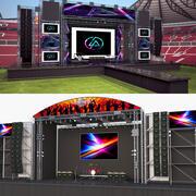 Kolekcja etapów koncertu 2 3d model
