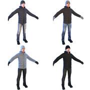 Men W Pack 3d model