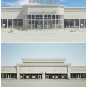 Supermarkt und Einzelhandel 2 n 1 3d model