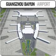 Guangzhou Baiyuns internationella flygplats - CAN 3d model