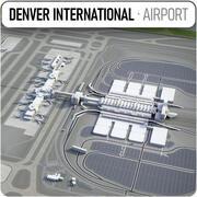 Международный аэропорт Денвера - DEN 3d model