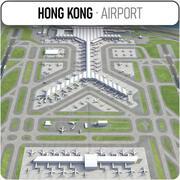 Hongkongs internationella flygplats - HKG 3d model