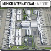 Münchens internationella flygplats - MUC 3d model