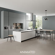Cucina animata 3 3d model