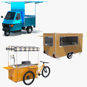 Street Food Vehicles 3d model