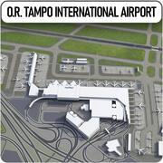 Johannesburg OR Tambo internationella flygplats 3d model