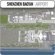 Shenzhen Baoan internationella flygplats 3d model