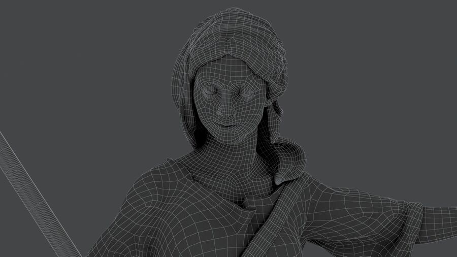 Justice Lady royalty-free 3d model - Preview no. 20