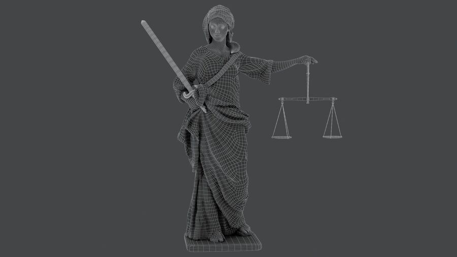 Justice Lady royalty-free 3d model - Preview no. 19