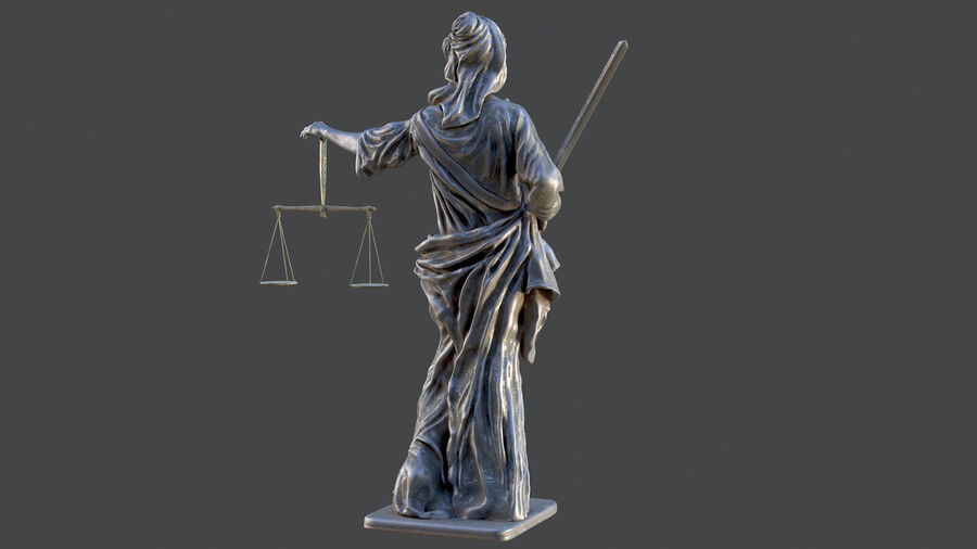 Justice Lady royalty-free 3d model - Preview no. 15