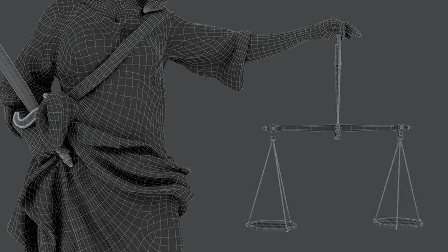 Justice Lady royalty-free 3d model - Preview no. 21
