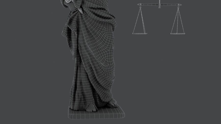 Justice Lady royalty-free 3d model - Preview no. 22