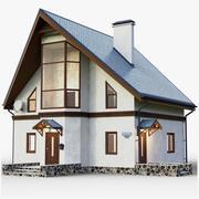 GameReady House mit Innenraum 3d model