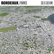 Bordeaux frança 3d model