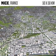 Nice France 50x50km 3d model