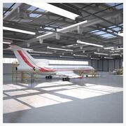 Hangar di servizio aereo 3d model