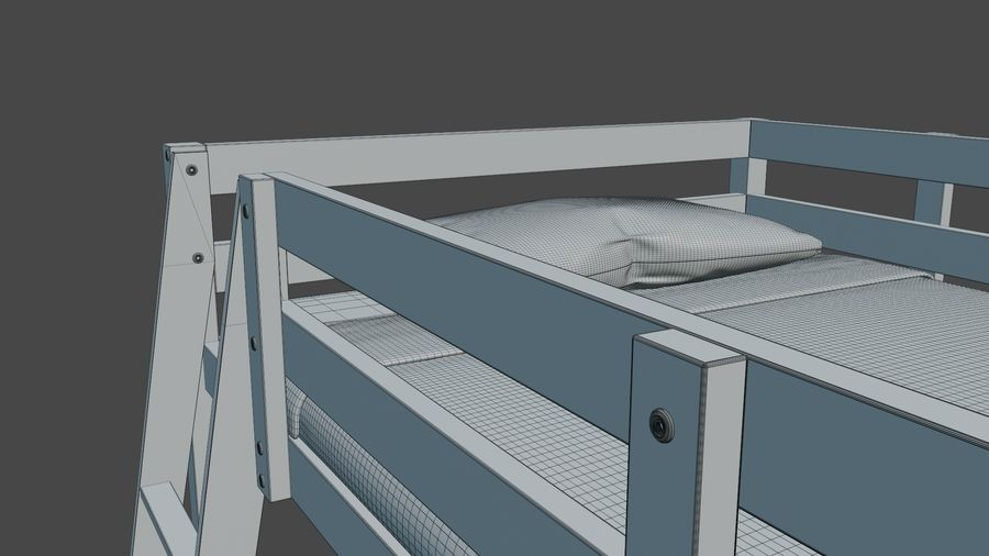 IKEA Stora Bunk Bed royalty-free 3d model - Preview no. 18
