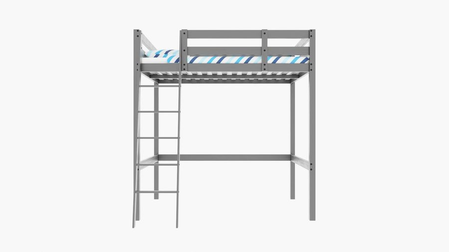 IKEA Stora Bunk Bed royalty-free 3d model - Preview no. 3