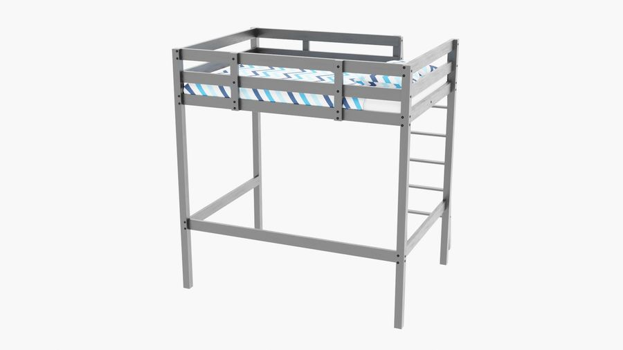 IKEA Stora Bunk Bed royalty-free 3d model - Preview no. 4