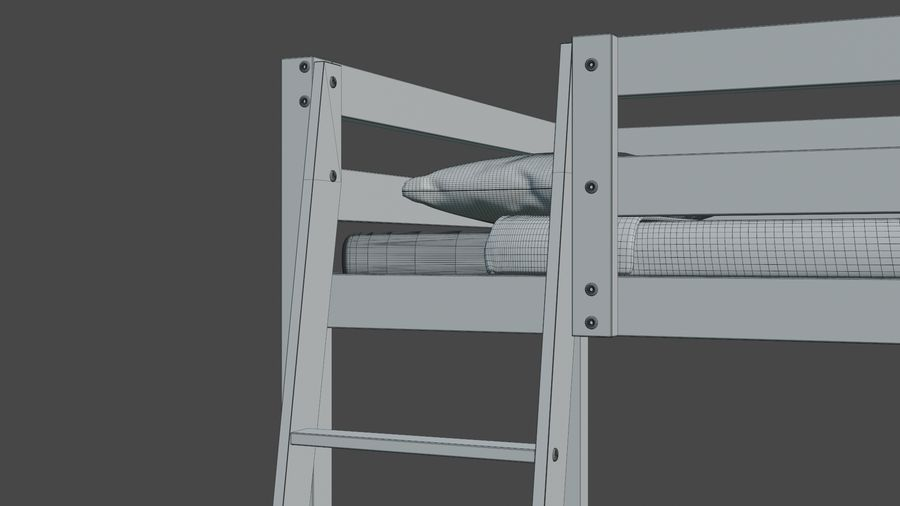 IKEA Stora Bunk Bed royalty-free 3d model - Preview no. 17