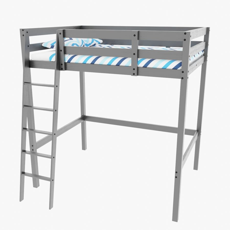 IKEA Stora Bunk Bed royalty-free 3d model - Preview no. 1
